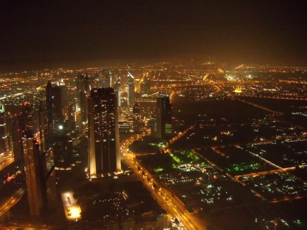 Dubai visto desde el edificio más alto del mundo