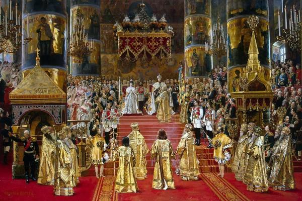 Coronación del Zar Alejandro III por Georges Becker
